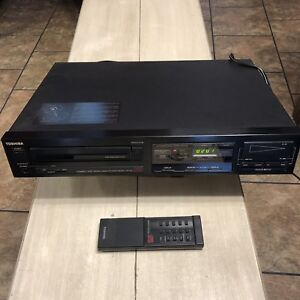 Vintage-Toshiba-XR-35-Single-Digital-CD-Player-Hi-Fi-Made-in-Japan-1986-W-Remote