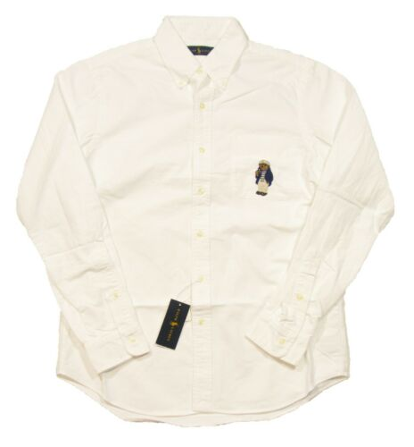 Polo Ralph Lauren Big /& Tall White Polo Bear Graphic Classic Fit Pocket Shirt