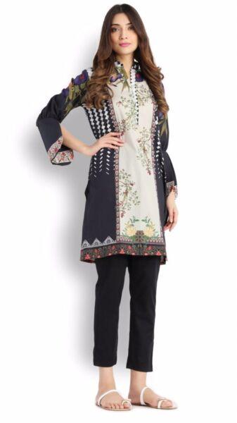 20% De Descuento Eid Venta Pakistaní Diseñador Sana Safinaz Kurta Kameez Talla M-ver