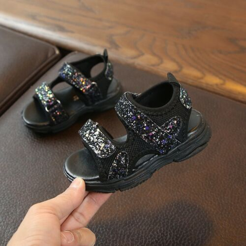 Toddler Children Baby Girls Boys Mesh Bling Sequins Sport Sneakers Sandals Shoes