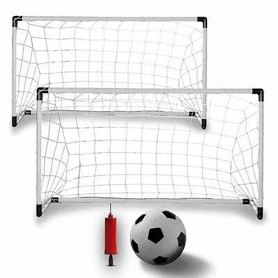 2 in 1 Football Soccer Goal Posts Set Goalpost Includes Ball And Pump XTY5516
