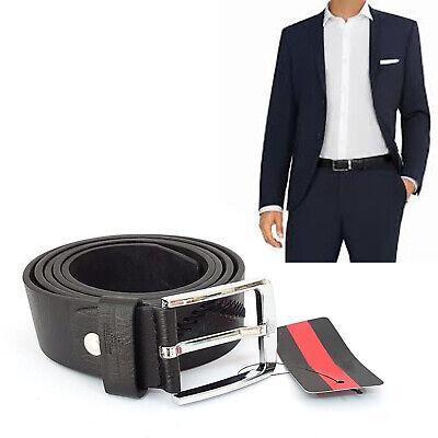 Cinta Cintura Uomo Pelle Nera Elegante Glamour Fashion Alla Moda Fornitura Sufficiente