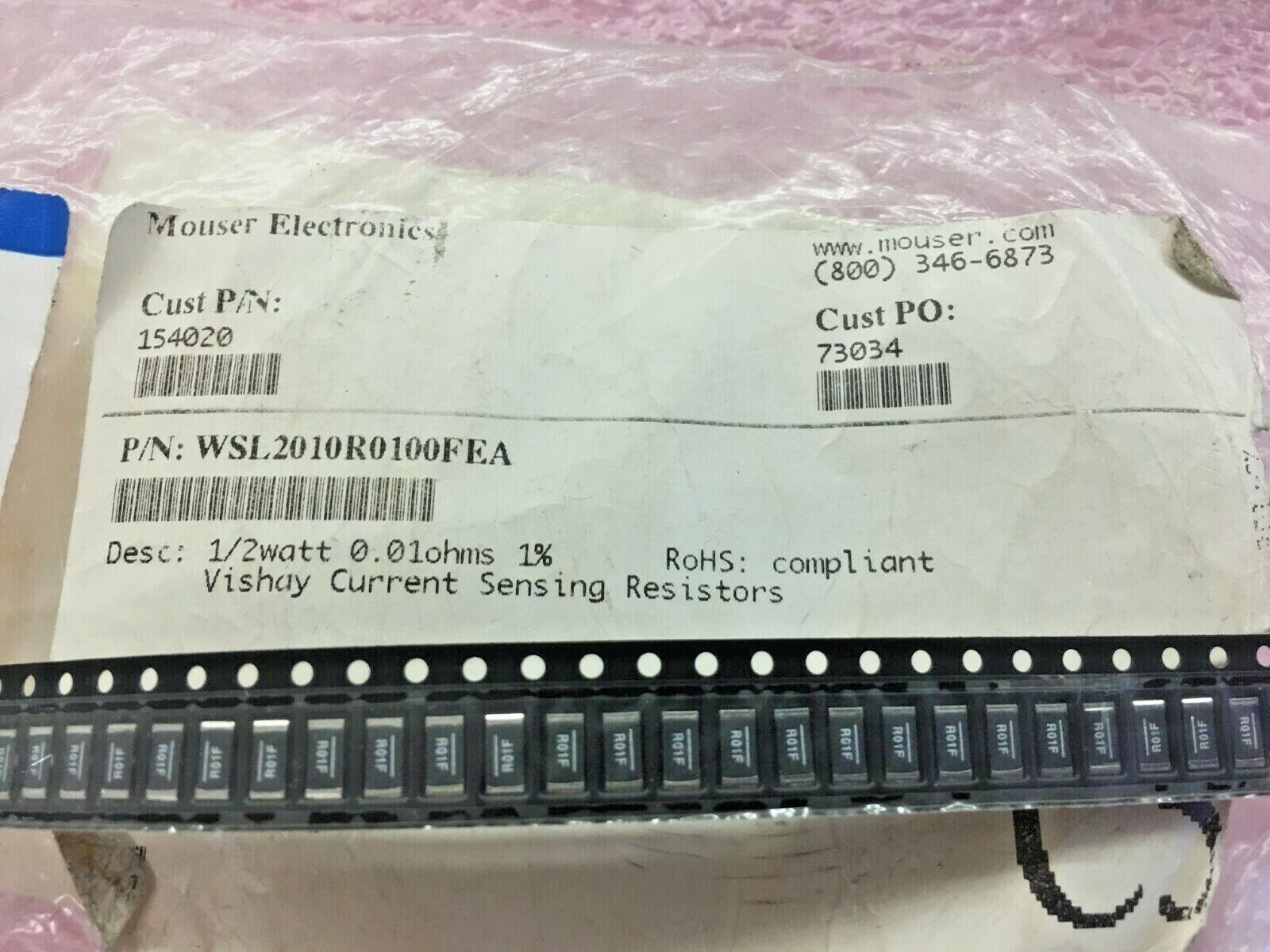 WSL2010R0300FEA RES 0.03 OHM 1/% 1//2W 2010 Pack of 30