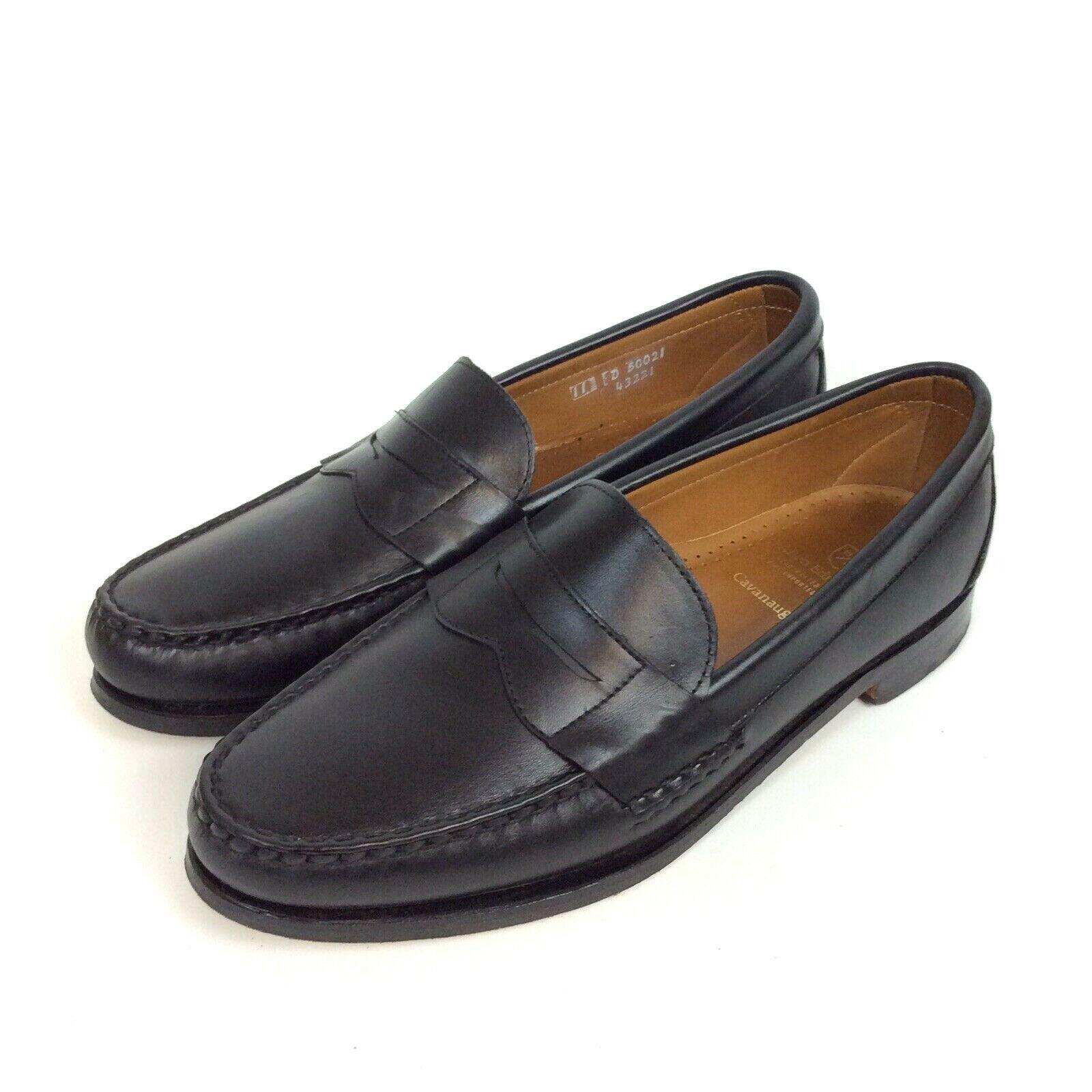 Allen Edmonds Cavanaugh Penny Mocassins Taille 11 D en cuir noir   Chaussures 50021 S