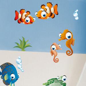 Wandkings-Ozean-Unterwasserwelt-Wandsticker-Set-50-Aufkleber-3-DIN-A4