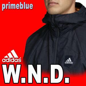 LIMITED MEN'S ADIDAS W.N.D. PRIMEBLUE WINDBREAKER JACKET MESH FR8289 BLUE XL
