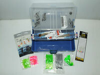 Tackle Box 2 Tier Hooks Weights Spinner Rigs Swivel Eel Shrimp Sea Fishing Gift