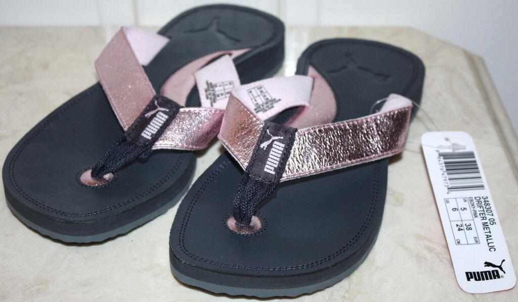 NWOB Womens PUMA Black/Pink Flip 6 Flops Size 6 Flip 8a4350