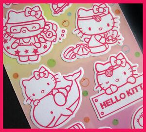 Hello Kitty Under Water Glow in Dark Glitter Sticker