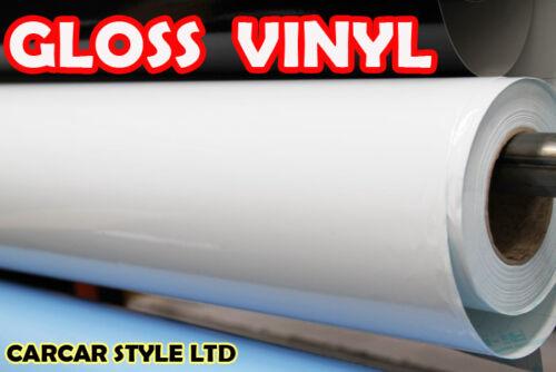 【WHITE Gloss】 Vinyl Wrap Sticker 1.5 M x 1.52 M For Decals Sun Strips Graphics