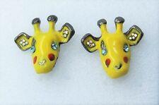 Kitch Giallo Giraffa Orecchini BETSEY JOHNSON. Carino Eccentrico cartoni animati