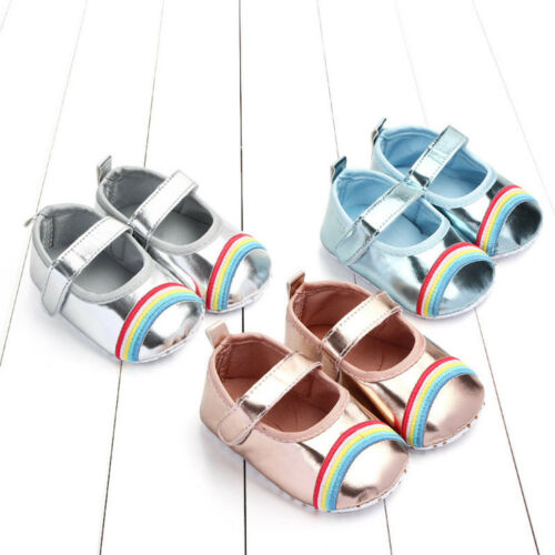 Newborn Baby Girl Toddler Bling Leather First Walker Soft Toddler Princess Shoes