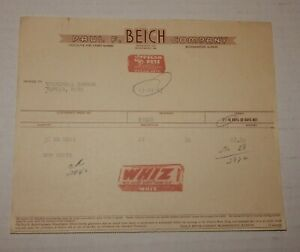 Vintage-1947-Paul-F-Beich-Company-Candy-Advertising-Sales-Receipt