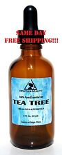 TEA TREE ESSENTIAL OIL by H&B Oils Center AROMATHERAPY GLASS DROPPER 2 OZ, 59 ml