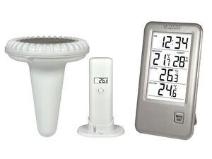 thermometre exterieur piscine sans fil avec station meteo. Black Bedroom Furniture Sets. Home Design Ideas