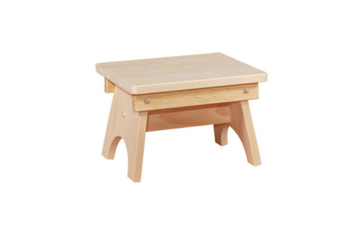 Rustic Primitive Chic Farm Mini Bench STEP STOOL AMISH SOLID PINE Unfinished