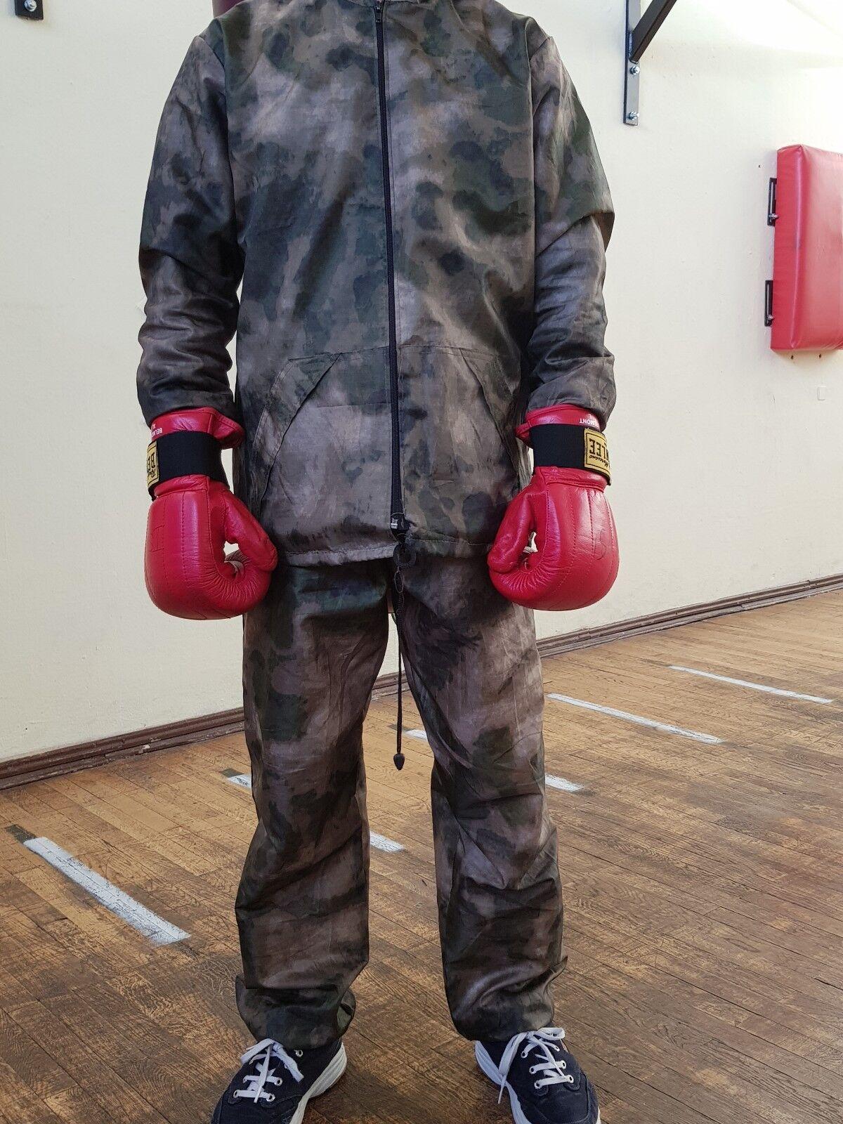 Schwitzanzug  Military  Muster- Muster- Muster- Moose MMA Muay Thai Fitness Boxen 5914ed