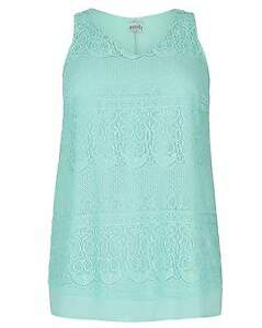 New-Simply-Be-Emily-Turquoise-Lace-Split-Plus-Size-Tunic-Top
