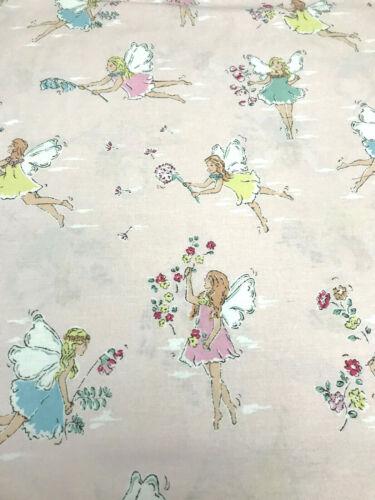 "CATH KIDSTON Garden Fairies Cotton Fabric Remnant 25/"" x 36/"" Pink"