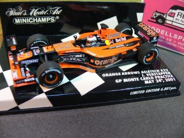 1 43 Minichamps orange Arrows Asiatech A22 J.Verstappen GP Monte Carlo 2001 400