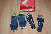 * coole blaue Puma Turnschuhe Schuhe Klettschuhe Sneaker Gr. 32 top
