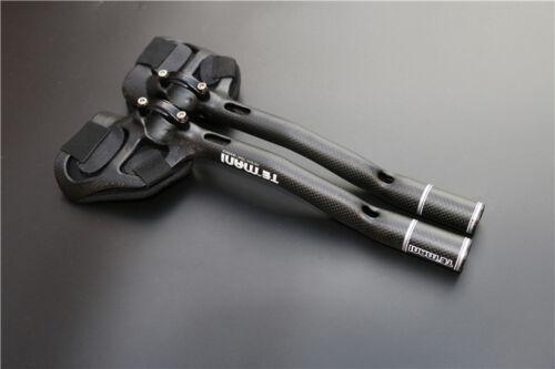 12K//3K//UD Full Carbon Fiber TT Bar Arm Rest Aero Bike Bicycle Handlebar 31.8*340