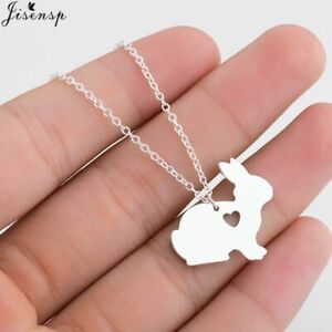 Trendy Bunny Necklace Rabbit Pendant Fachion Jewelry Animal Gift Creative Spring