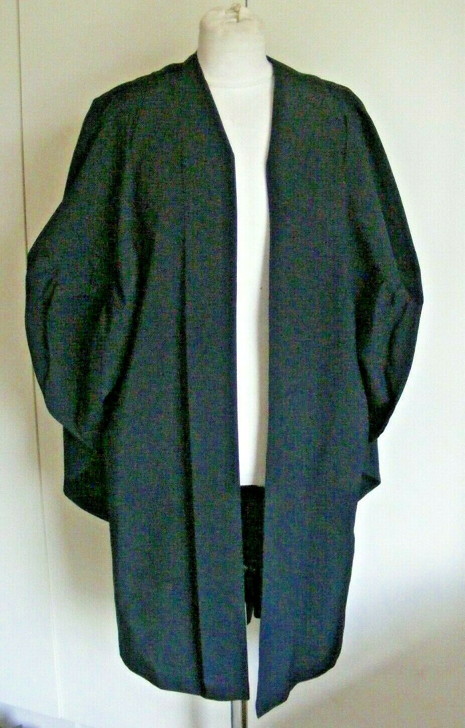 Vintage short polyester under-graduate gown choir church Wippell chest 38-40