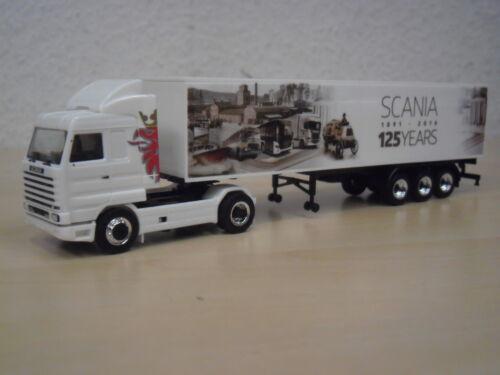 "Herpa-Scania 143 sl maleta-remolcarse /""125 Years/"" nº 306447-1:87"