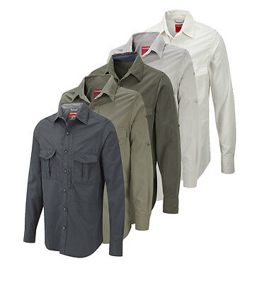 Craghoppers Shirt Mens Nosi Life Insect Replant Long-Sleeved Free Post