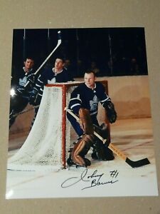 Johnny Bower Toronto Maple Leafs autographed 8x10 photo 2