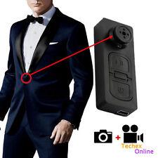 Spy Hidden Security Mini Button Pinhole Camera DVR HD Video Recorder USB Camcord