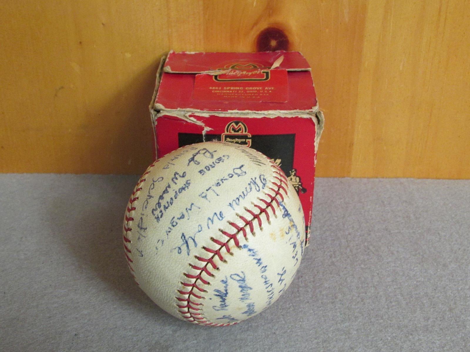 Vintage Macgregor Macgregor Macgregor Offizielles Little League Leder Spiel Baseball B76c W   Box b355b5
