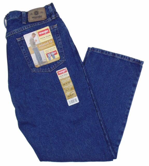d58d7454 Wrangler Jeans 34x34 Blue Relaxed Fit 5 Star Hero 100 Cotton Denim Mens