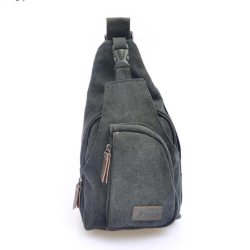 Men Canvas Shoulder Wallet Messenger Waist Pack Belt Bag Pouch Travel Hip Purse