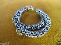 Barbara Bixby Earrings Ss 18k Silver Gold Hoop Chain Flower Mesh Byzantine Gift