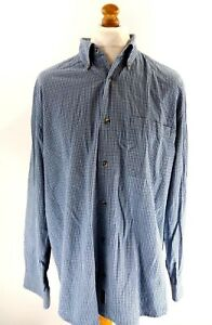 TIMBERLAND-Mens-Shirt-UK-XXL-US-XL-Blue-Check-Cotton