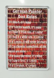Magnet Gift Card Insert Funny German Short Hair Point House Rules Refrigerator