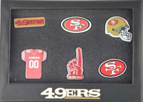 Forever Collectibles San Francisco 49ers 6 Piece Pin badge set le PINS NFL NEW afficher le titre d'origine