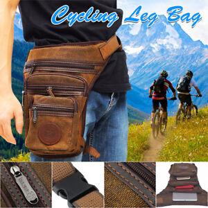 Men-039-s-Canva-Waist-Thigh-Drop-Leg-Bag-Tactical-Motorcycle-Riding-Hip-Fanny-Pack