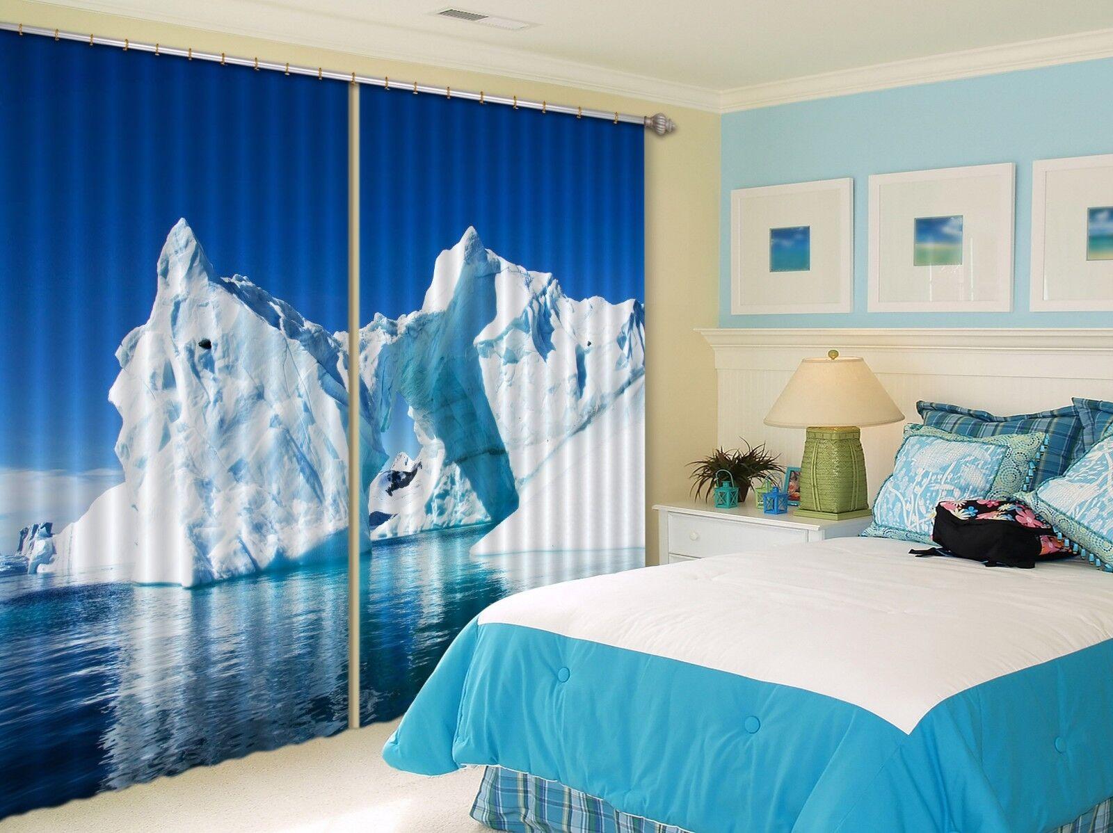 3d ghiacciai mare 67 blocco foto sipario pressione sipario tende tessuto finestra de