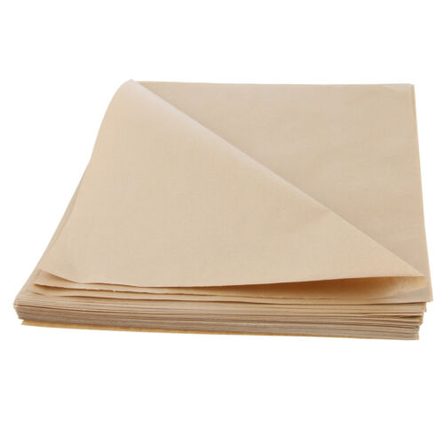 200 Pcs Natural Kraft Food Wrapping Paper Unwaxed Oilproof Basket Tissue