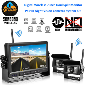 Details About Wireless Digital Backup Camera And 7 Monitor Kit For Trucks Rv Trailer Camper
