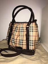 Authentic BURBERRY Haymarket Check Northfield Handbag With Strap. Brand New