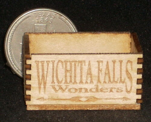 Dollhouse Miniature Wichita Falls Wonders Crate 1:12 Texas Food Market Produce