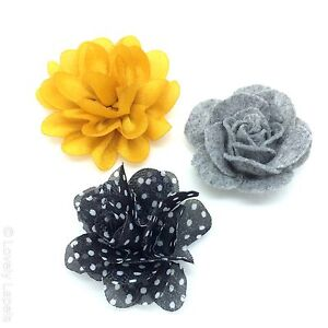 3-FOR-25-MIX-AND-MATCH-Handmade-Flower-Lapel-Pins-Lovely-Wedding-Boutonniere