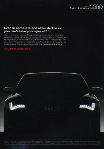 2011 Audi A8 Classic Vintage Advertisement Ad H46 darkness