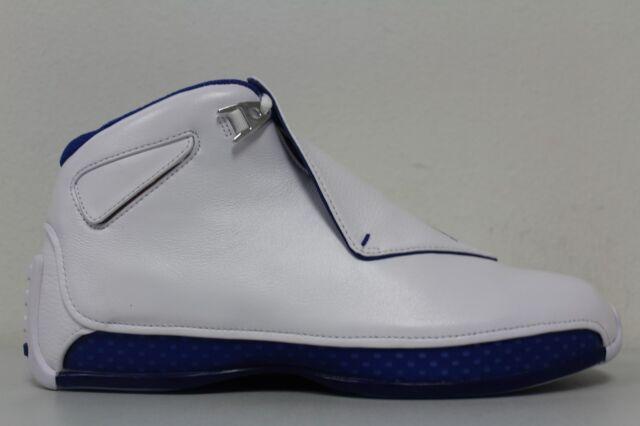 ceb29d087883cd Nike Air Jordan 18 Retro White Royal Blue Silver Aa2494 106 Size 12 ...