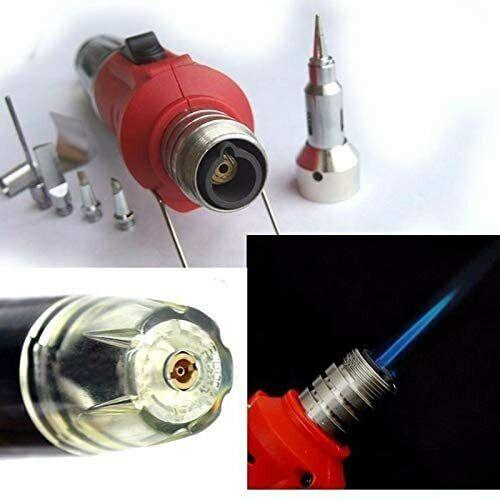 Cordless Auto Ignition Butane Gas Soldering Iron Kit Self Ignite Welding Torch