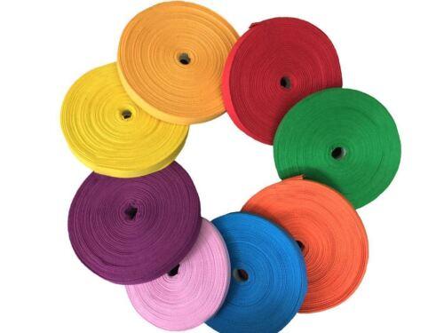 KRAFTZ® 5 Pc Cotton Tape 25mm 1 50 Metres Roll Craft Bunting Dressmaking Sewing